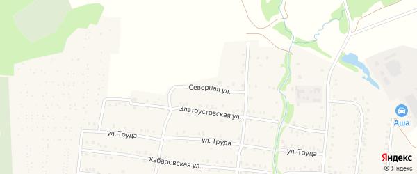 Северная улица на карте Аши с номерами домов
