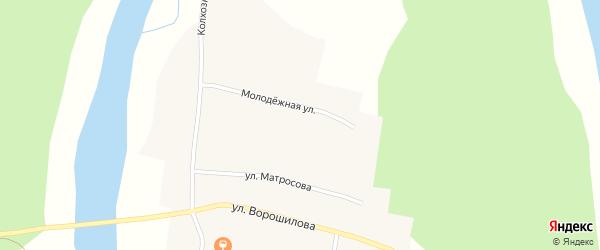 Молодежная улица на карте села Атняша с номерами домов