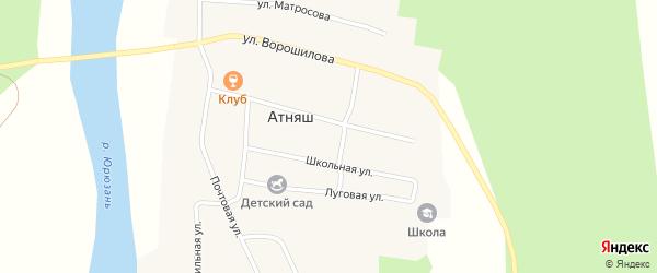 Коммунистическая улица на карте села Атняша с номерами домов
