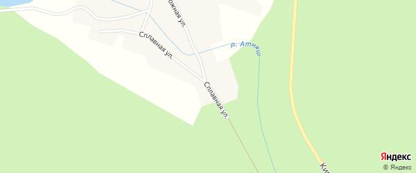 Сплавная улица на карте села Атняша с номерами домов