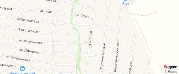 Улица Гоголя на карте Аши с номерами домов