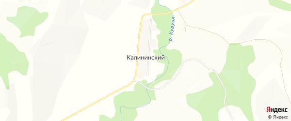 Карта Калининского хутора в Башкортостане с улицами и номерами домов