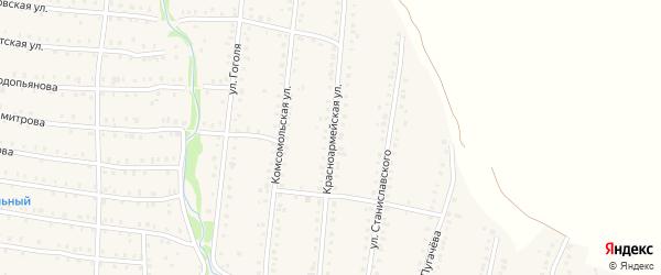 Красноармейская улица на карте Аши с номерами домов
