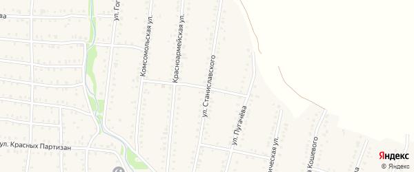Улица Станиславского на карте Аши с номерами домов