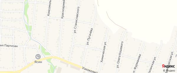 Улица Пугачева на карте Аши с номерами домов