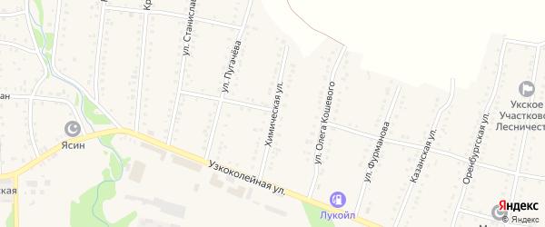 Химическая улица на карте Аши с номерами домов