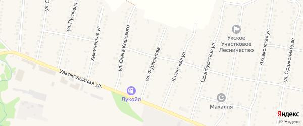 Улица Фурманова на карте Аши с номерами домов