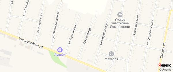 Казанская улица на карте Аши с номерами домов