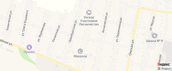Первомайская улица на карте Аши с номерами домов