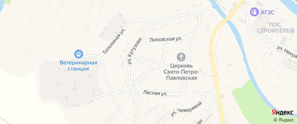 Улица Зои Космодемьянской на карте Аши с номерами домов