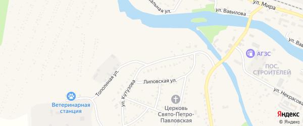 Улица Кутузова на карте Аши с номерами домов