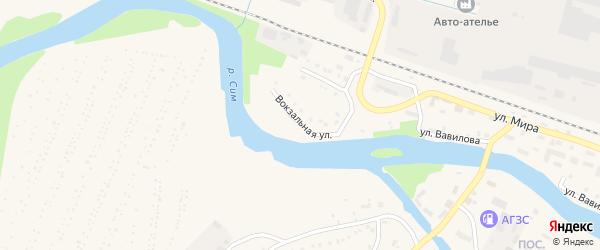 Вокзальная улица на карте Аши с номерами домов