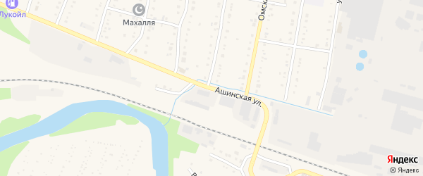 Ашинская улица на карте Аши с номерами домов