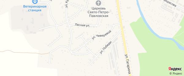 Улица Чеверевой на карте Аши с номерами домов