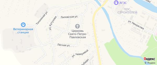 Лесная улица на карте Аши с номерами домов