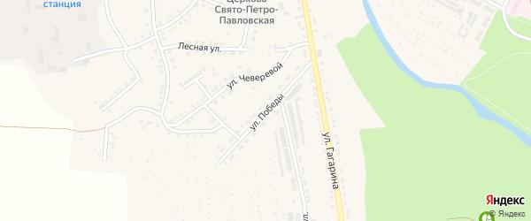 Улица Победы на карте Аши с номерами домов
