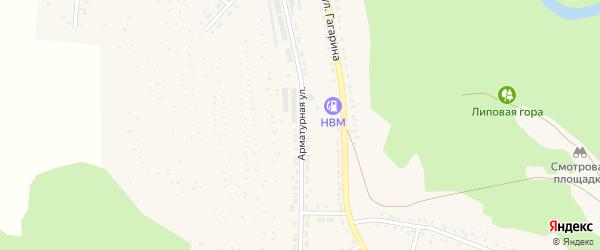 Арматурная улица на карте Аши с номерами домов