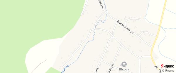 Заречная улица на карте поселка Ука с номерами домов