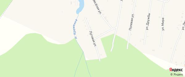 Луговая улица на карте поселка Ука с номерами домов