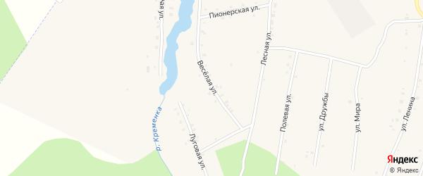 Веселая улица на карте поселка Ука с номерами домов