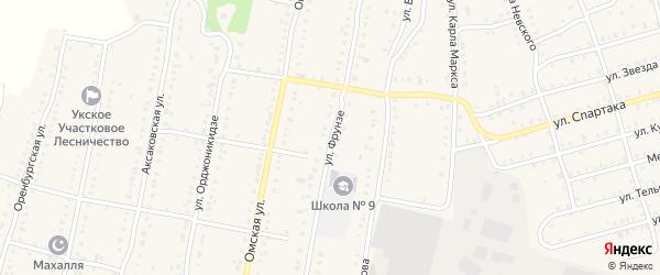 Улица Фрунзе на карте Аши с номерами домов