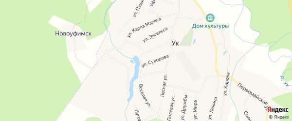 Карта поселка Ука в Челябинской области с улицами и номерами домов