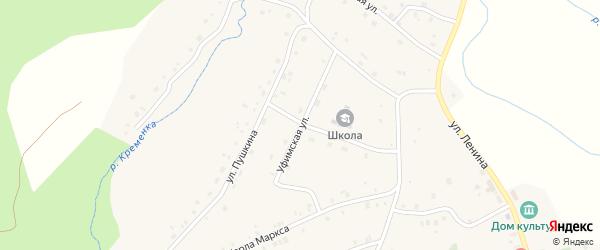 Уфимская улица на карте поселка Ука с номерами домов