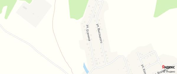 Улица Есенина на карте Аши с номерами домов