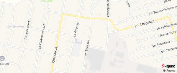 Улица Войкова на карте Аши с номерами домов