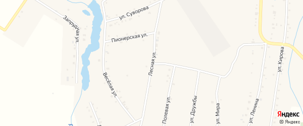 Лесная улица на карте поселка Ука с номерами домов