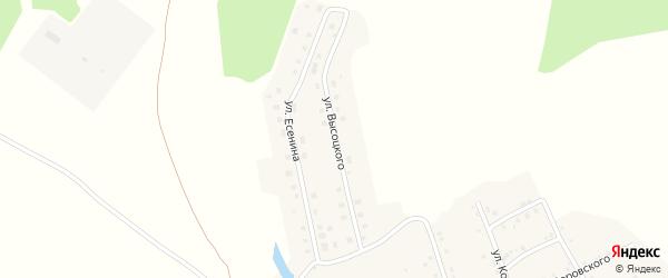 Улица Высоцкого на карте Аши с номерами домов