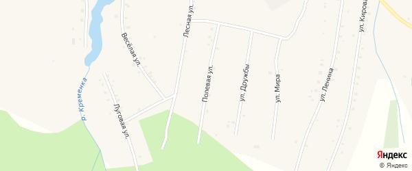 Полевая улица на карте поселка Ука с номерами домов