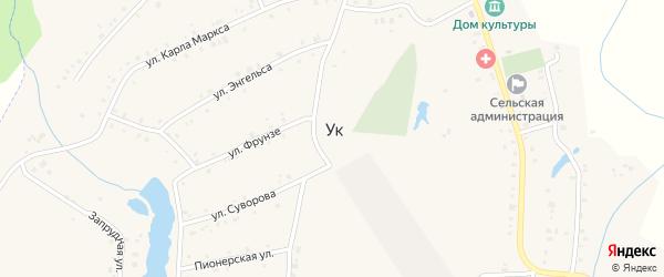 Производственная улица на карте поселка Ука с номерами домов