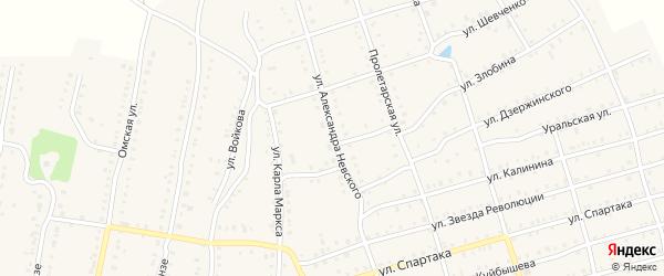Улица Невского на карте Аши с номерами домов