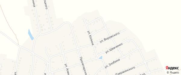 Улица Колина на карте Аши с номерами домов