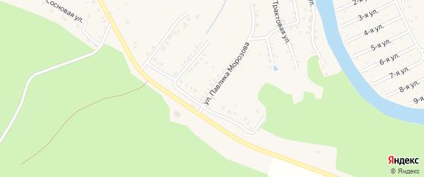 Улица Павлика Морозова на карте Аши с номерами домов