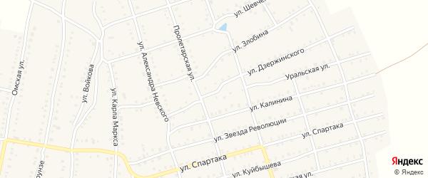 Территория ГК Горка на карте Аши с номерами домов