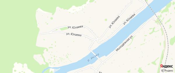 Улица С.Юлаева на карте села Габдюково с номерами домов