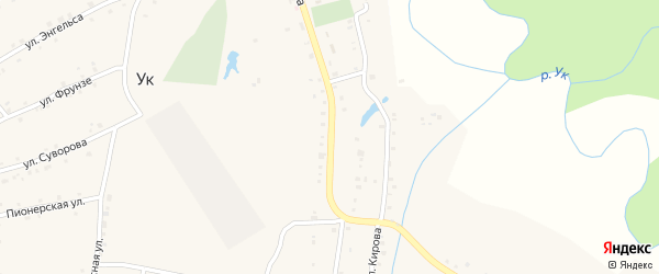 Улица Ленина на карте поселка Ука с номерами домов
