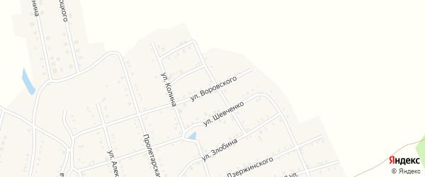 Улица Воровского на карте Аши с номерами домов