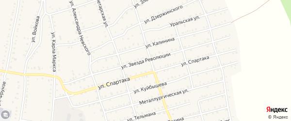 Улица Звезда Революции на карте Аши с номерами домов