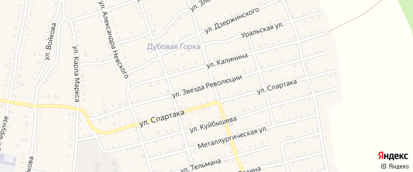 Улица Революции на карте Аши с номерами домов