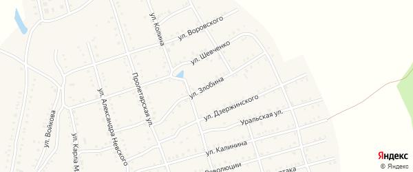 Улица Злобина на карте Аши с номерами домов