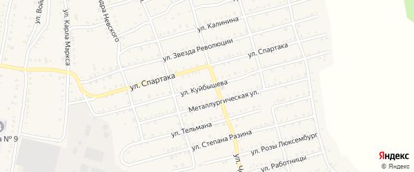 Улица Куйбышева на карте Аши с номерами домов