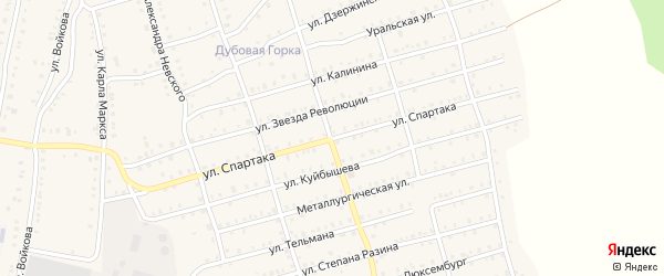 Улица Спартака на карте Аши с номерами домов