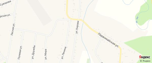 Улица Кирова на карте поселка Ука с номерами домов