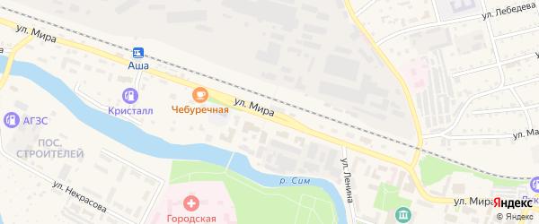 Улица Мира на карте Аши с номерами домов