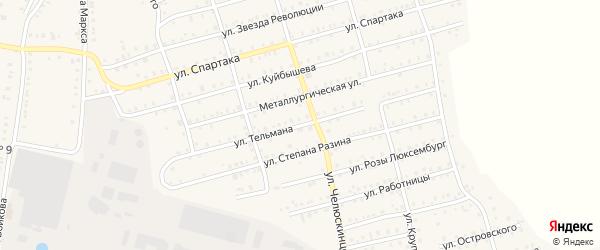 Улица Тельмана на карте Аши с номерами домов