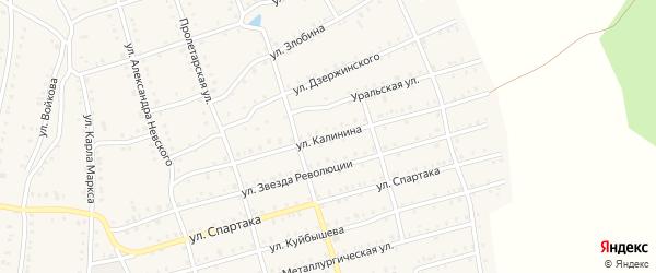 Улица Калинина на карте Аши с номерами домов