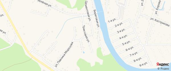 Трактовая улица на карте Аши с номерами домов
